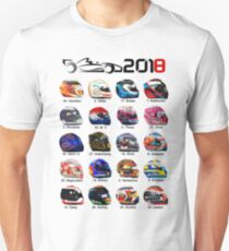 Formula 1 2018, new helmets of drivers white Unisex T-Shirt