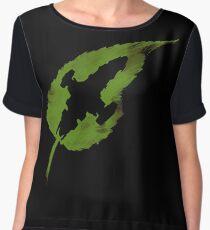 Leaf on the Wind Chiffon Top