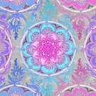Pink, Purple and Turquoise Super Boho Medallions by micklyn