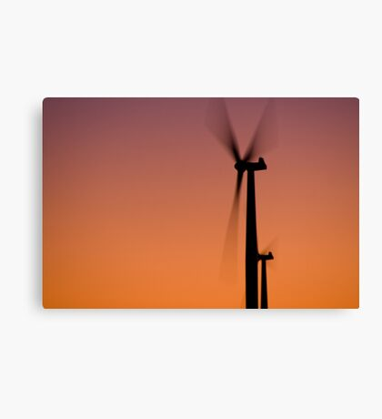 Red fans Canvas Print
