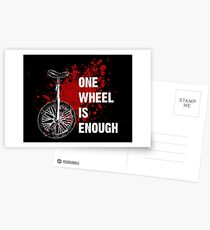 One wheel is enough  Postcards