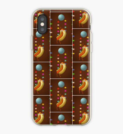 Dancing hot dog iPhone Case