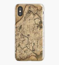 Map of Skyrim (The Elder Scrolls) iPhone Case/Skin