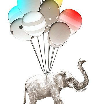 Elephant With Baloons2 by Miraart