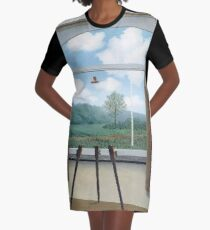 The Human Condition(La condition humaine)-René Magritte Graphic T-Shirt Dress