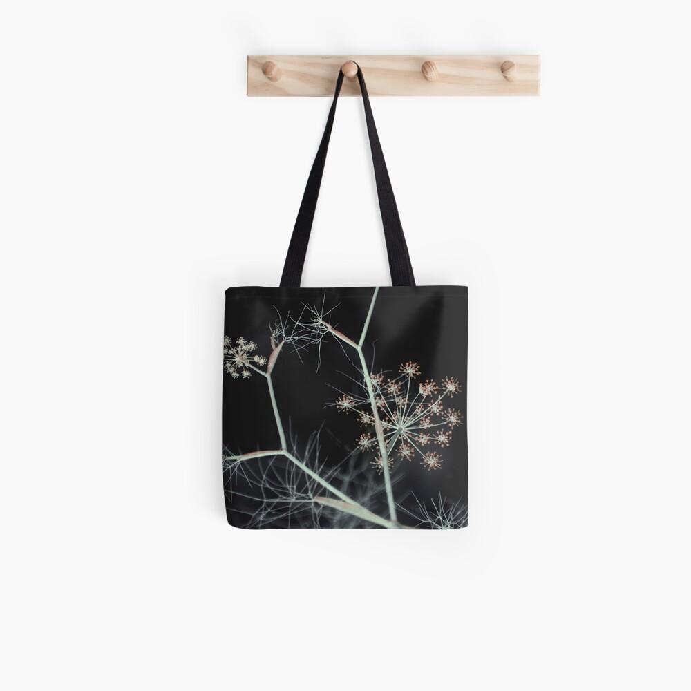Night Whispers. Dark Floral Tote Bag