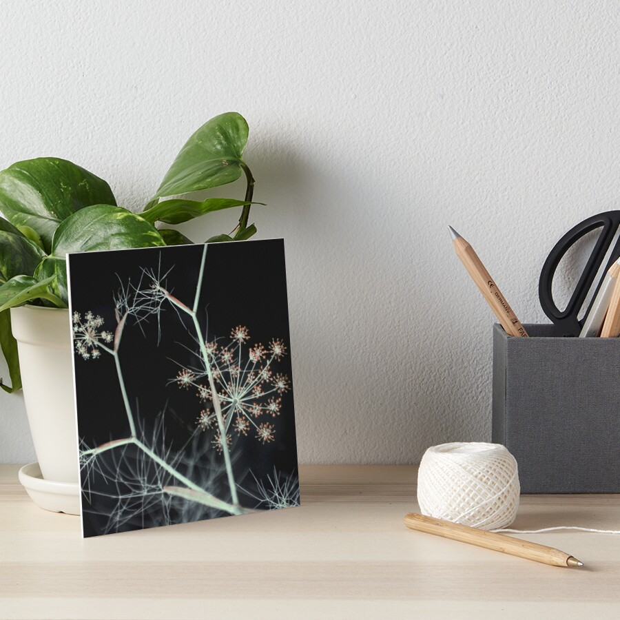 Night Whispers. Dark Floral Art Board Print