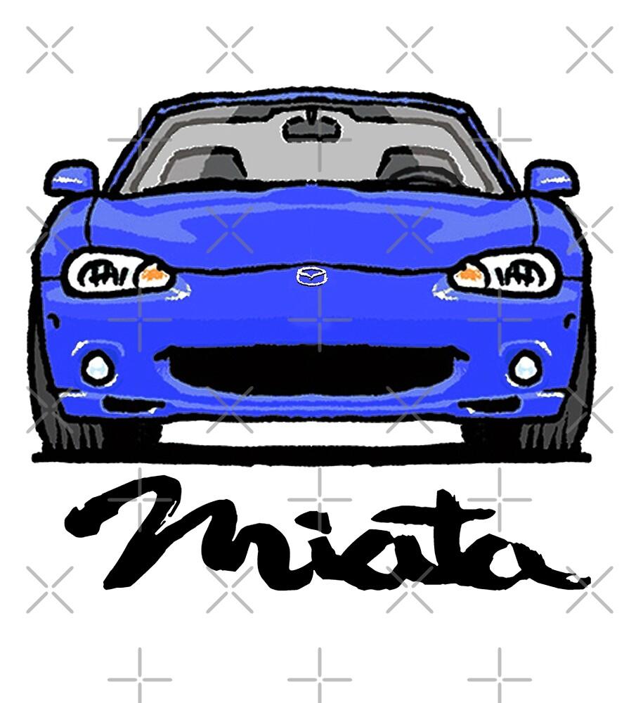 MX5 Miata NB Blue by Woreth