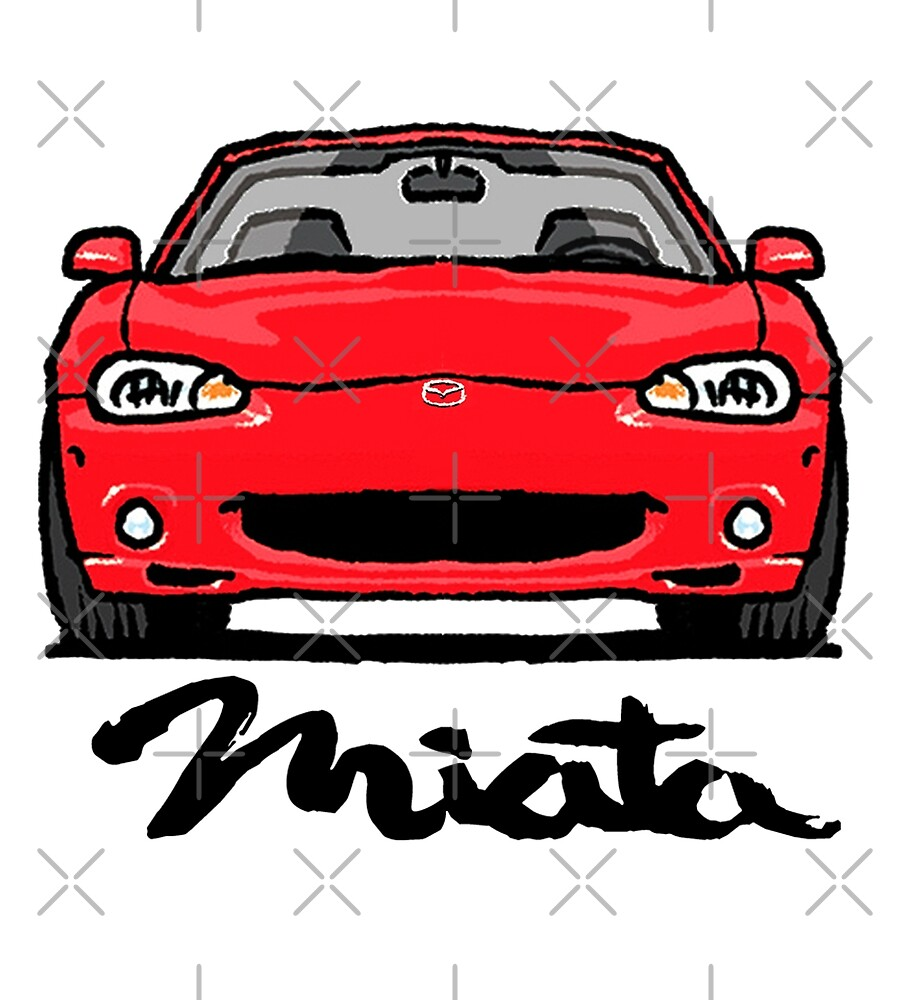 MX5 Miata NB Red by Woreth