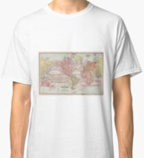 Vintage Map of The World (1883) Classic T-Shirt