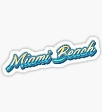 Miami Beach Typography Sticker