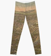 Vintage Pictorial Map of Mexico City (1906) Leggings