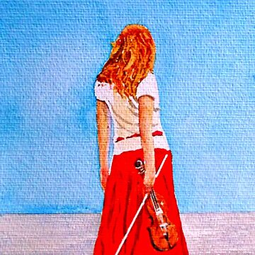 Girl With Her Violin by Croftsie
