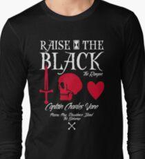 """Black Sails Charles Vane """"Raise The Black"""" Long Sleeve T-Shirt"""