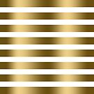Modern Faux Gold Stripes Pattern by artonwear