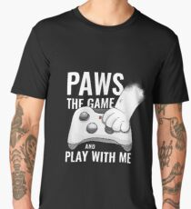 Paws The Game And Play With Me T-Shirt Men's Premium T-Shirt