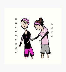 Breast Cancer Awareness Friends Art Print