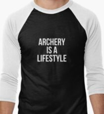 Archery Is A Lifestyle T-Shirt Men's Baseball ¾ T-Shirt