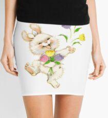 Easter Bunny And Tulips Mini Skirt