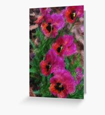 Pansy Fancy  Painting  Greeting Card