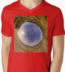 Lisfannon Beach, Fahan, County Donegal - Sky In Men's V-Neck T-Shirt