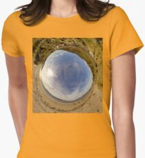 Lisfannon Beach, Fahan, County Donegal - Sky In Women's Fitted T-Shirt