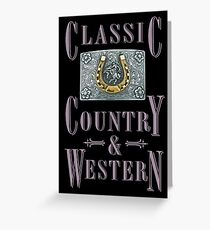 Classic Country & Western (Golden Horseshoe) Greeting Card