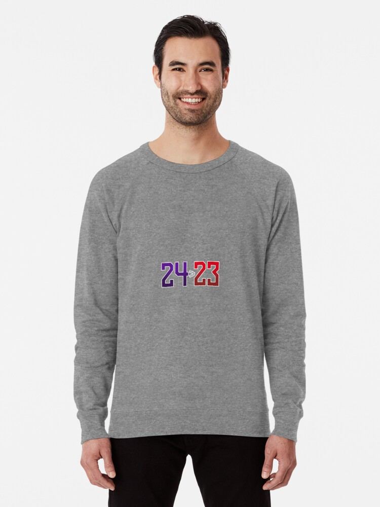4f4b5a06e9c4 Kobe Bryant is greater than Lebron James or Michael Jordan Lightweight  Sweatshirt. Designed by JmoeGraphic