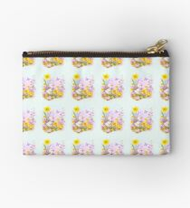 Cute Easter Duckling Chick and Spring Flowers Studio Pouch
