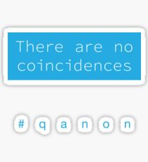 There Are No Coincidences - Q Sticker
