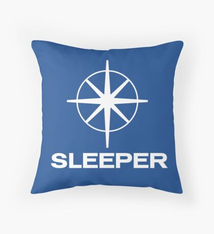 Sleeper (the band) Southern TV pastiche logo Throw Pillow