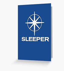Sleeper (the band) Southern TV pastiche logo Greeting Card