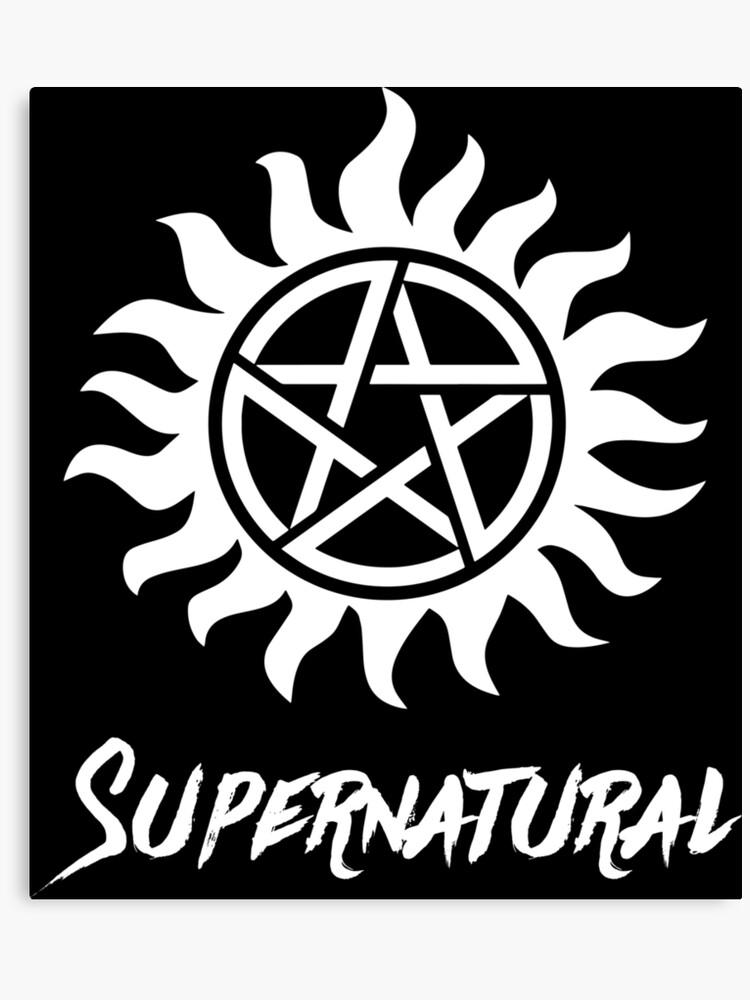 anti possession supernatural tattoo | Canvas Print