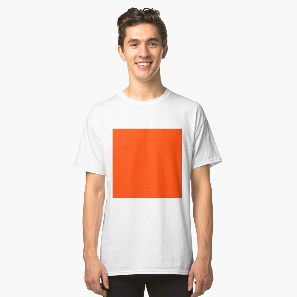 PLAIN ORANGE RED | SOLID COLOR ORANGE RED Classic T-Shirt