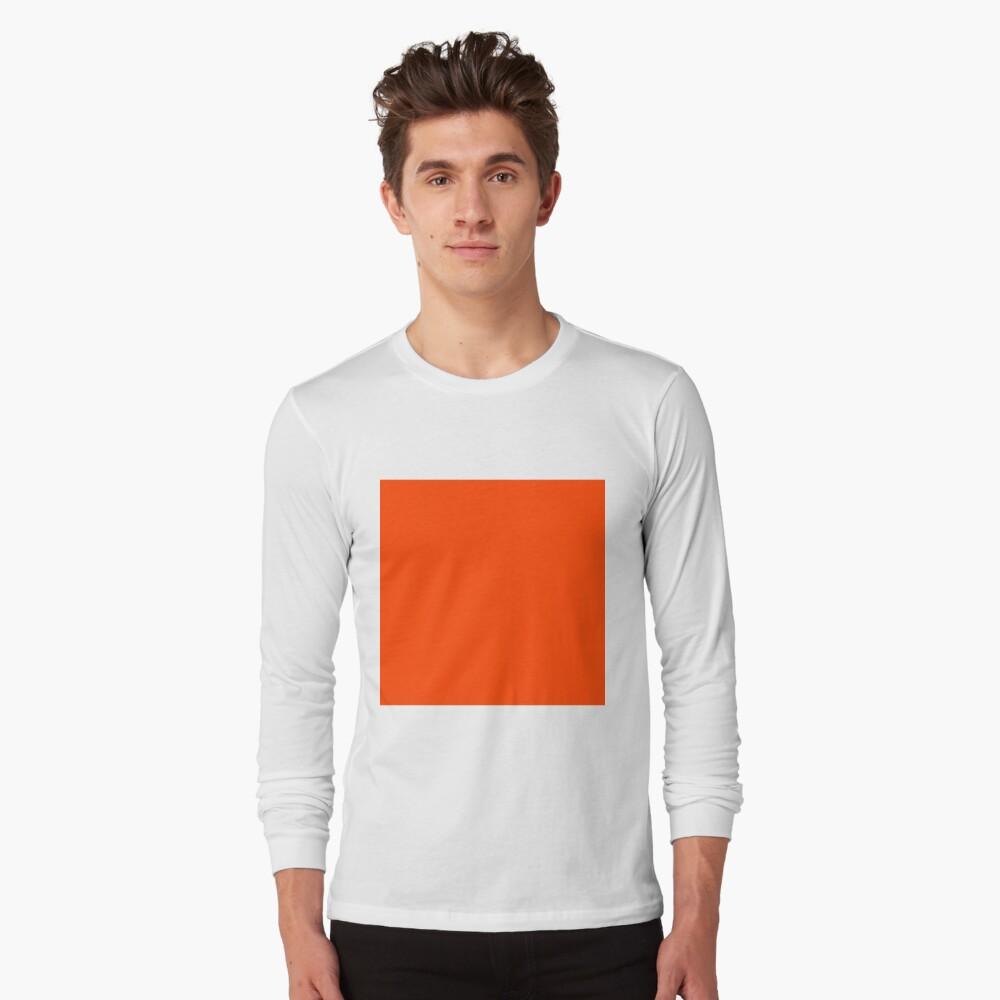 PLAIN ORANGE RED | SOLID COLOR ORANGE RED Long Sleeve T-Shirt