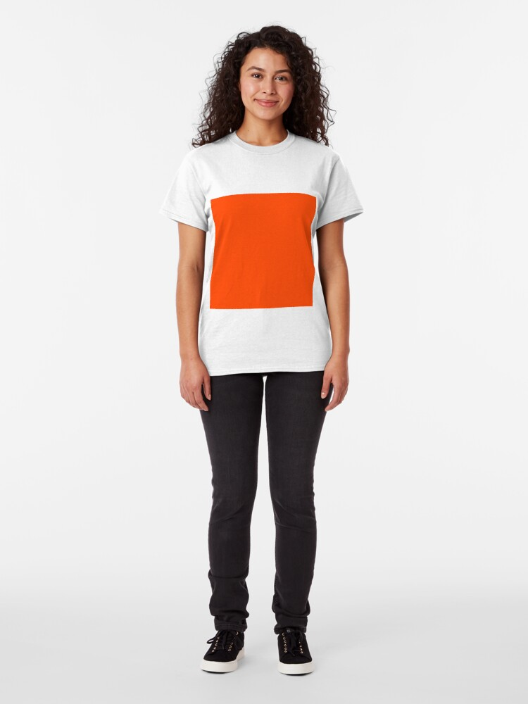 Alternate view of PLAIN ORANGE RED | SOLID COLOR ORANGE RED Classic T-Shirt