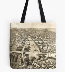 Vintage Pictorial Map of Milwaukee WI (1879) Tote Bag