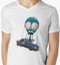 Fortnite Bus Drawing, Colored version Men's V-Neck T-Shirt