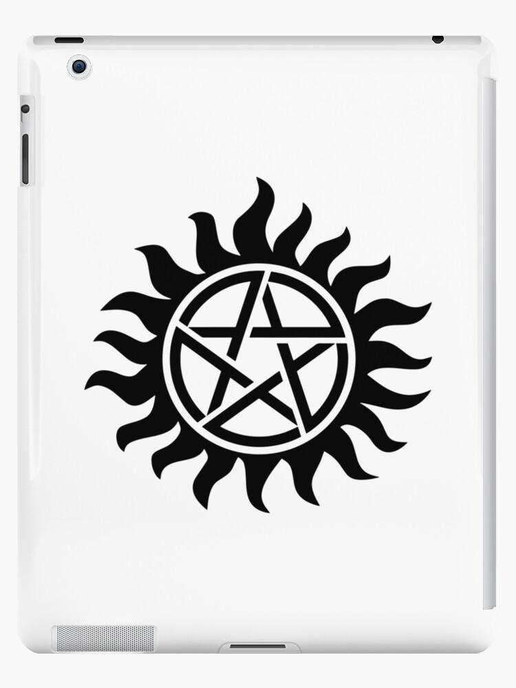 'anti possession supernatural tattoo spn' iPad Case/Skin by PineLemon