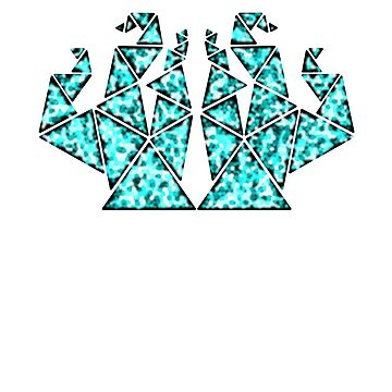 Triangles Turquoise by JCS-Designs