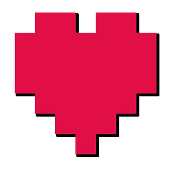 Retro Gamer Pixel Heart by thestash