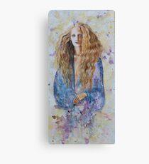 Mathilde in blauw Canvas Print