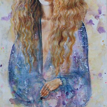 Mathilde in blauw by rinekedejong