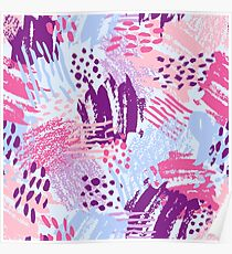 Cool bright brush Poster