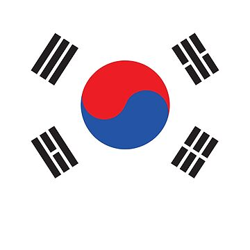 South Korea Flag For Korea Enthusiast by robcubbon