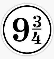 Platform Nine Three Quarters 9 3 4 Sticker