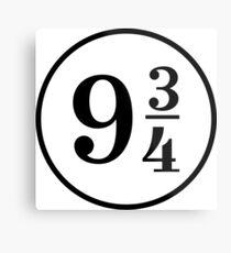 Platform Nine Three Quarters 9 3 4 Metal Print