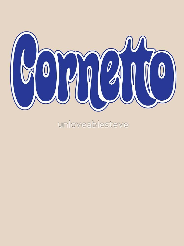 1970s Cornetto logo, Wall's ice cream of Italy by unloveablesteve