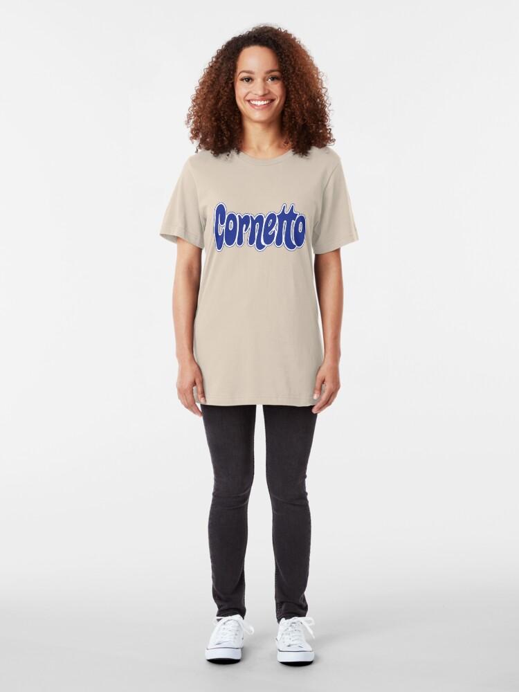 Alternate view of 1970s Cornetto logo, Wall's ice cream of Italy Slim Fit T-Shirt