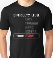 Difficulty Level: Asian Unisex T-Shirt